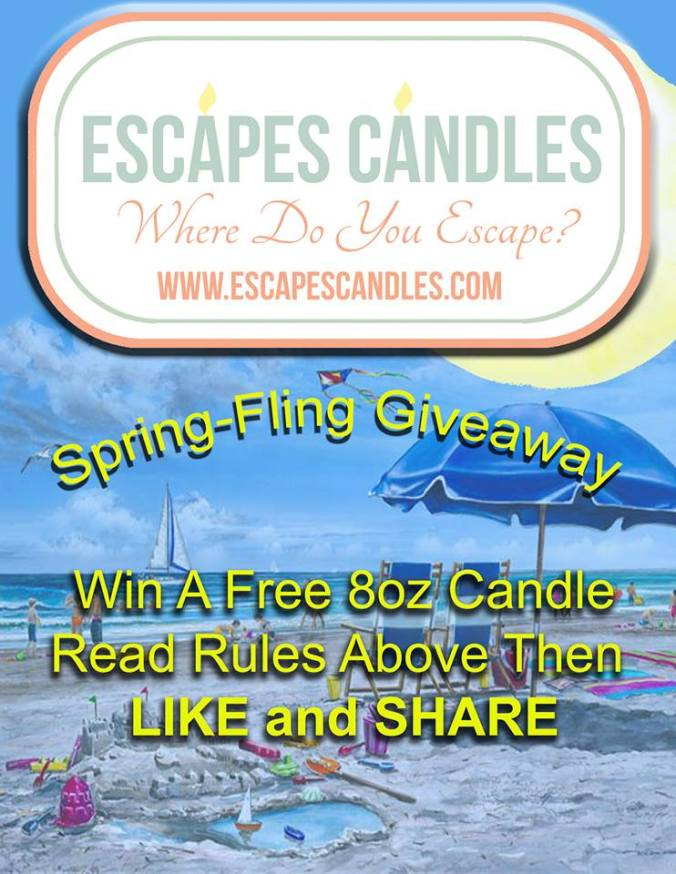 SPRING FLING GIVEAWAY! All Natural Soy Candles!