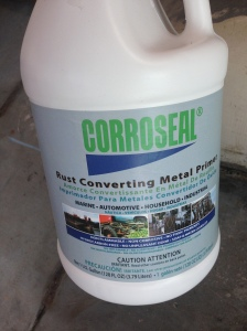 Corroseal One gallon was all I needed to cover the entire floor, and trouble spots I did twice over. I actually have about 1/4 Gallon left, which I plan on using on the roof/sides if I see anything.