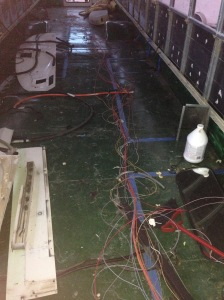 Even this wiring is cleaned up a lot! Don't look at the dirty floor! lol.